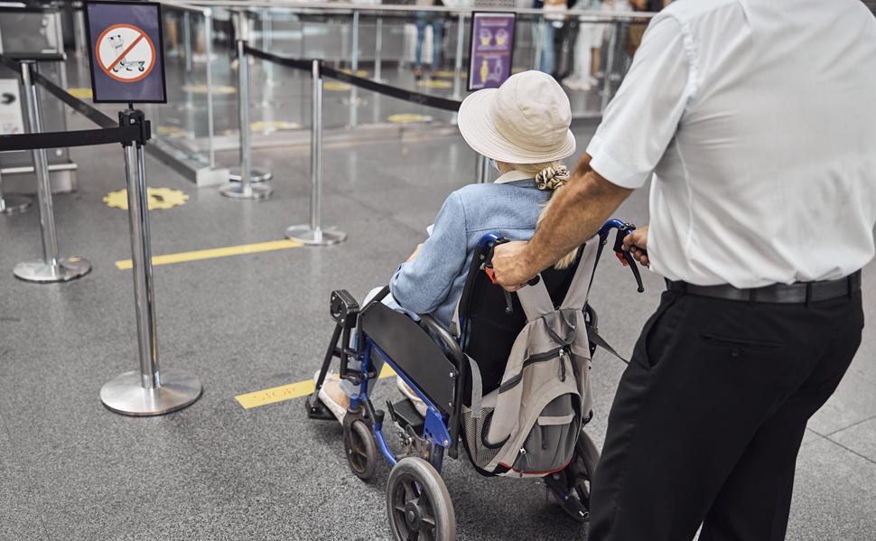 Viajar en avión en silla de ruedas. Galquiler